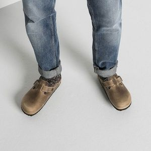 Birkenstock Boston Birkis Brown Clogs